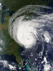 Hurricane Isobel off the coast of the United States.