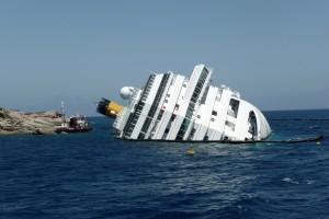 Passenger shipwreck off the coast of Tuscany.