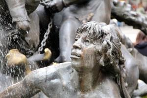 Human sculpture.