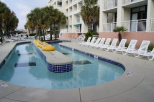 Lazy River Pool at the hotel at Myrtle Beach.