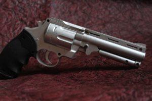 A handgun.