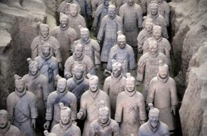 Terracotta army of 1st Emperor of China.