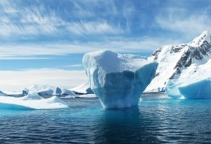 Iceberg at the north or south pole.