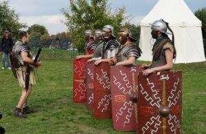 Roman soldiers being trained.